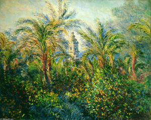 Claude Monet - Garden in Bordighera, Impression of Morning