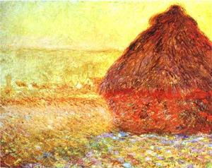 Claude Monet - Haystack at the Sunset near Giverny