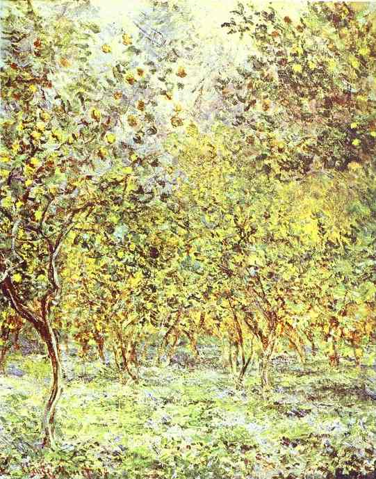 Lemon-Trees. Bordighera, Oil by Claude Monet (1840-1926, France)
