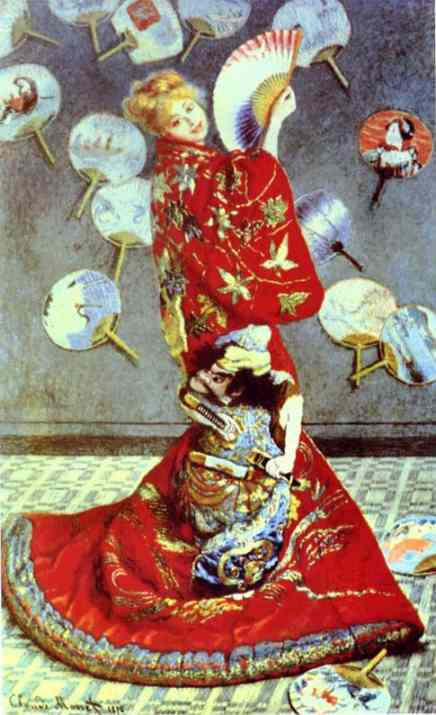 Madame Monet in Japanese Costume (La Japonaise), Oil by Claude Monet (1840-1926, France)