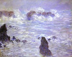 Claude Monet - Storm, Coast at Belle-Ile