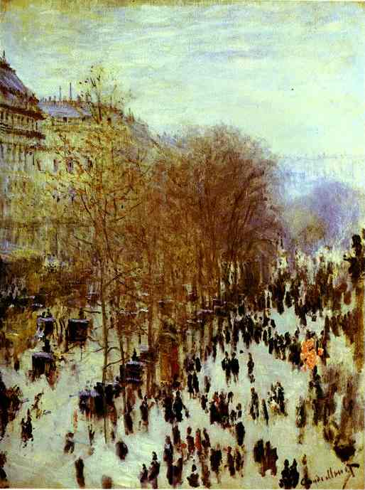 The Boulevard des Capucines by Claude Monet (1840-1926, France) | Museum Art Reproductions Claude Monet | WahooArt.com