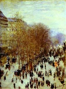 Claude Monet - The Boulevard des Capucines