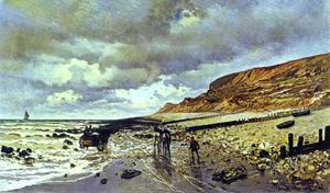 Claude Monet - The Cape de la Hève at Low Tide