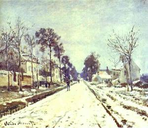 Claude Monet - The Road to Louveciennes, the Effect of Snow