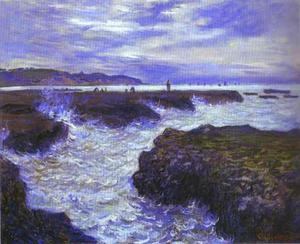 Claude Monet - The Rocks near Pourville at Ebb Tide - (oil painting reproductions)