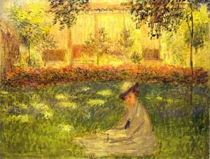 Claude Monet - Woman Sitting in a Garden (Femme assise dans le jardin)