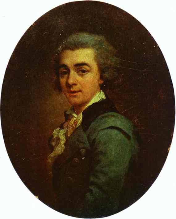 Portrait of Nikolay Lvov, Architect, Painter and Poet by Dmitry Grigoryevich Levitsky (1735-1822, Ukraine) | Museum Quality Reproductions | WahooArt.com