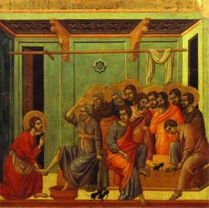 Duccio Di Buoninsegna - MaestÓ (back, central panel), The Washing of Fee