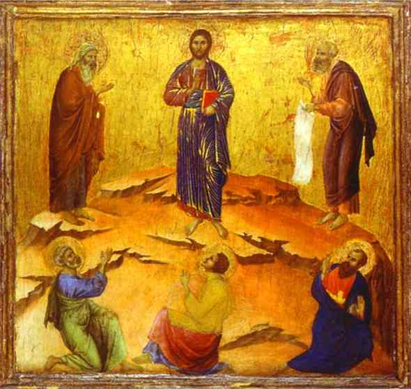 MaestÓ (back, predella), The Transfiguration of Christ by Duccio Di Buoninsegna (1255-1319, Italy) | WahooArt.com