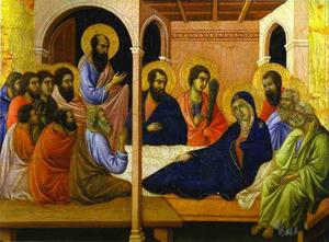 Duccio Di Buoninsegna - MaestÓ (front, crowning panels), Parting from the Apostles