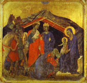 Duccio Di Buoninsegna - MaestÓ (front, predella), The Adoration of the Magi