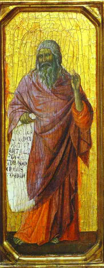 MaestÓ (front, predella), The Prophet Isaiah by Duccio Di Buoninsegna (1255-1319, Italy) | Art Reproduction | WahooArt.com