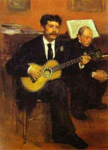 Edgar Degas - Lorenzo Pagans and Auguste de Gas, the Artist's Father