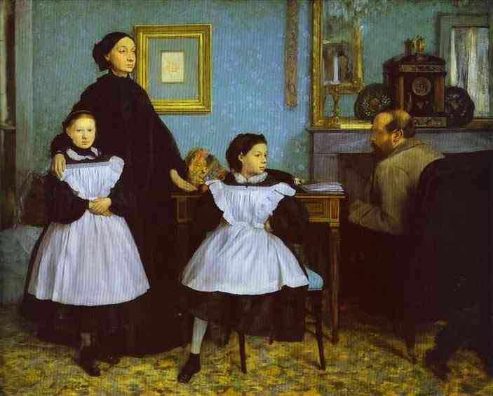 The Bellelli Family, Oil by Edgar Degas (1834-1917, France)
