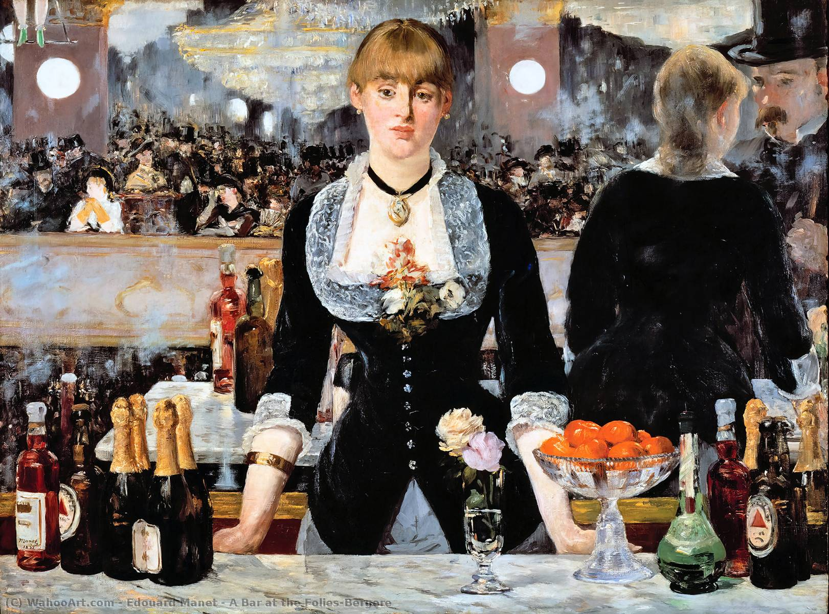 A Bar at the Folies-Bergere, Oil On Canvas by Edouard Manet (1832-1883, France)