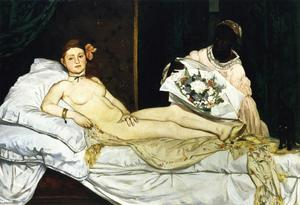 Edouard Manet - Olympia - (oil painting reproductions)