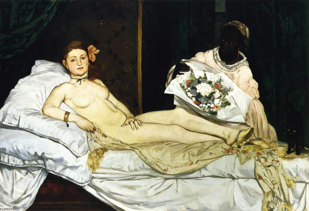 Olympia, Oil On Canvas by Edouard Manet (1832-1883, France)