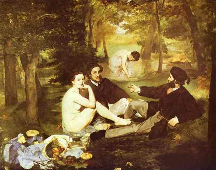 The Picnic (Le Déjeuner sur l`Herbe) by Edouard Manet (1832-1883, France) | Museum Quality Reproductions | WahooArt.com
