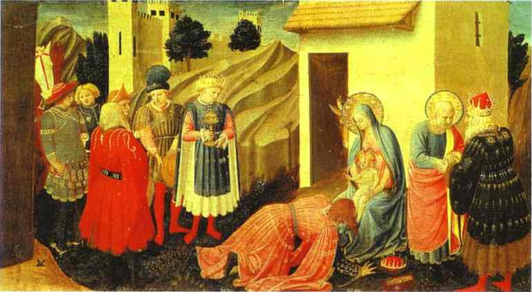Annunciation. Adoration of the Magi, Oil by Fra Angelico (1395-1455, Italy)
