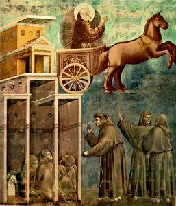 Giotto Di Bondone - Legend of St Francis - [08] - Vision of the Flaming Chariot