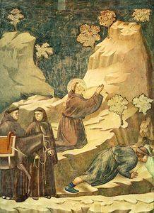 Giotto Di Bondone - Legend of St Francis - [14] - Miracle of the Spring