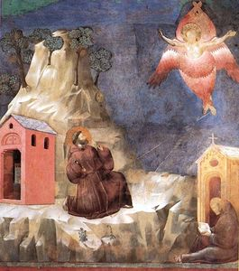 Giotto Di Bondone - Legend of St Francis - [19] - Stigmatization of St Francis