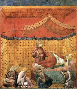 Giotto Di Bondone - Legend of St Francis - [25] - Dream of St Gregory
