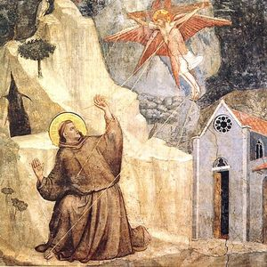 Giotto Di Bondone - Life of Saint Francis - [01] - Stigmatization of Saint Francis