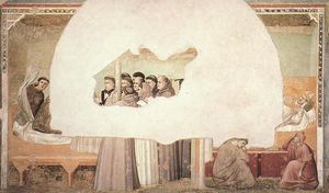 Giotto Di Bondone - Life of Saint Francis - [07] - Vision of the Ascension of St Francis