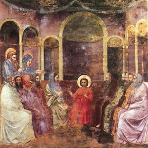 Giotto Di Bondone - Scrovegni - [22] - Christ among the Doctors