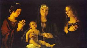 Giovanni Bellini - Virgin and Child between St. Catherine and St. Mary Magdalene
