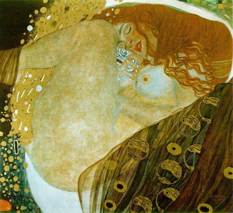 Danae, Oil On Canvas by Gustav Klimt (1862-1918, Austria)