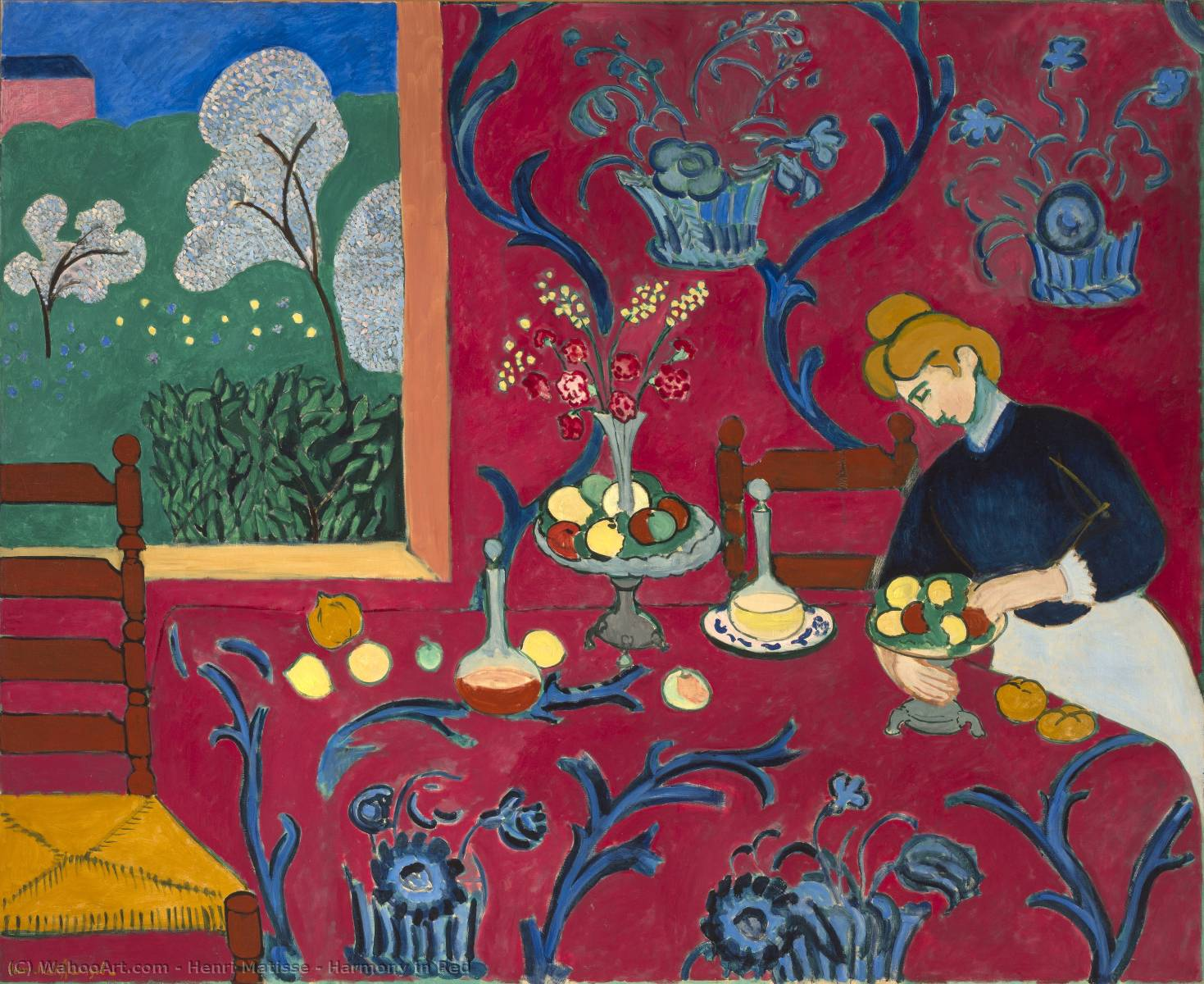 Harmony in Red, 1908 by Henri Matisse (1869-1954, France) | Art Reproduction | WahooArt.com