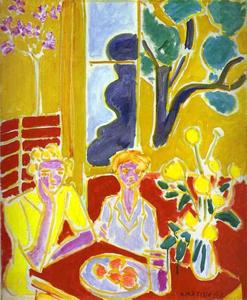 Henri Matisse - Two Girls with Yellow and Red Background
