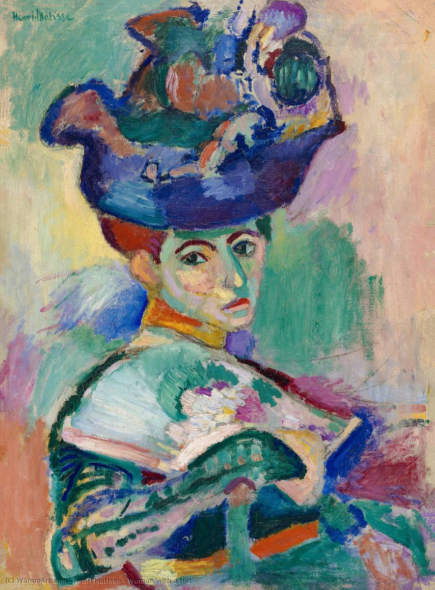 Woman with a Hat, 1905 by Henri Matisse