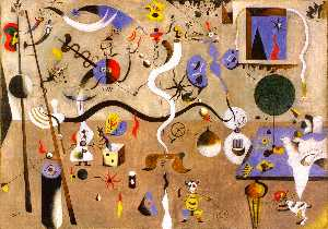Order Oil Painting : Harlequin`s Carnival, 1925 by Joan Miro (1893-1937, Spain) | WahooArt.com