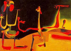 Joan Miro - Man and Woman in Front of a Pile of Excrement