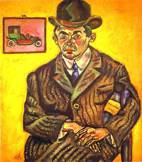 Portrait of Hiberto Casany. (The Chauffeur), Oil On Canvas by Joan Miro (1893-1983, Spain)