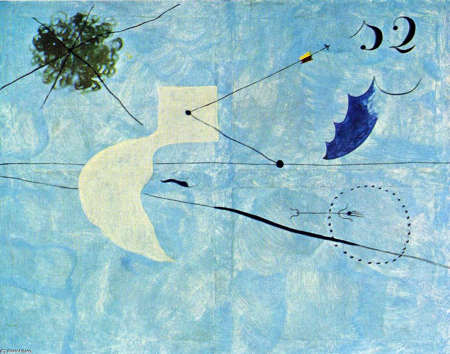 Siesta, 1925 by Joan Miro (1893-1937, Spain) | Paintings Reproductions Joan Miro | WahooArt.com