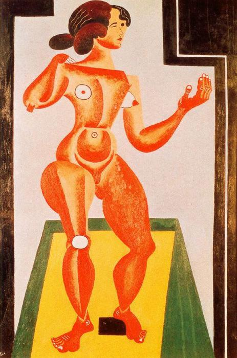 Standing Nude, Oil On Canvas by Joan Miro (1893-1983, Spain)