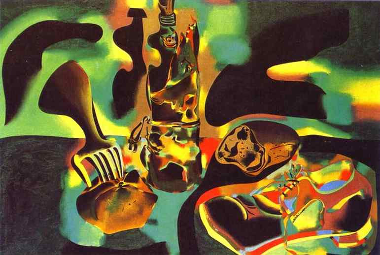 Still Life with Old Shoe, Oil by Joan Miro (1893-1983, Spain)