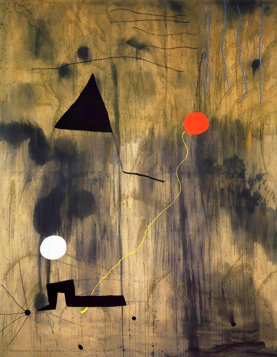 The Birth of the World, Oil On Canvas by Joan Miro (1893-1937, Spain)