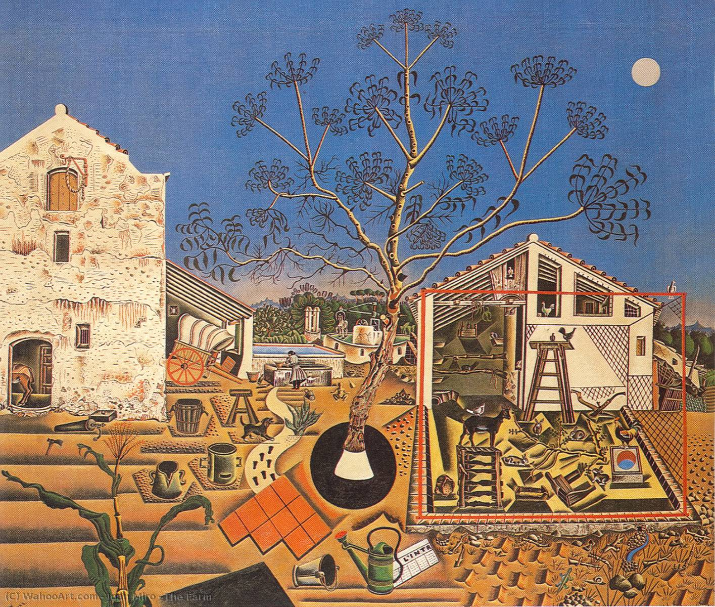 The Farm by Joan Miro (1893-1937, Spain) | Famous Paintings Reproductions | WahooArt.com