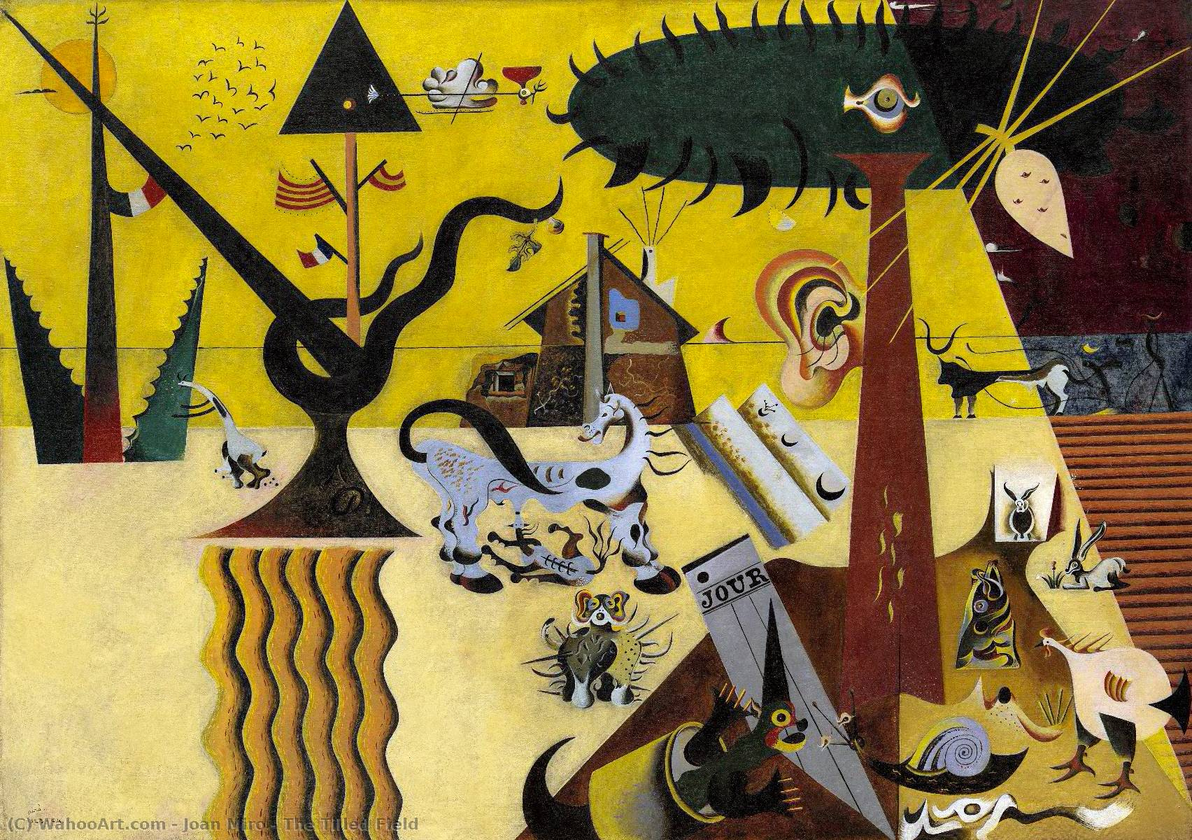 The Tilled Field, Oil On Canvas by Joan Miro (1893-1983, Spain)