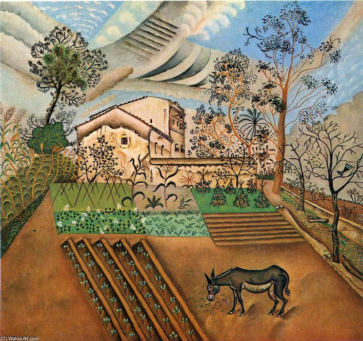 The Vegetable Garden with Donkey, 1918 by Joan Miro (1893-1937, Spain) | Oil Painting | WahooArt.com
