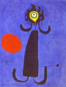 Joan Miro - Woman in Front of the Sun