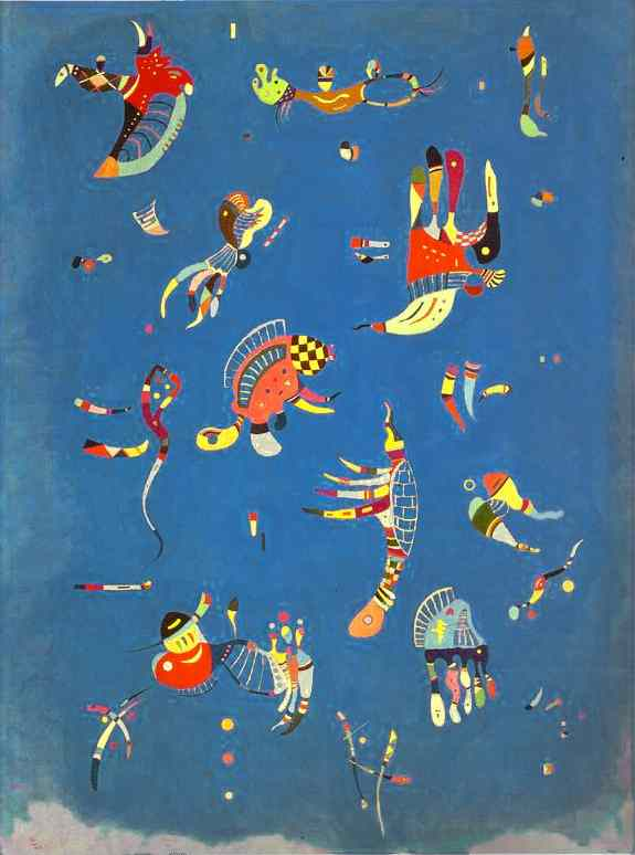 Sky Blue, Oil by Wassily Kandinsky (1866-1944, Russian Empire)