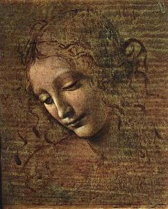 Leonardo Da Vinci - Head of a Tousled Young Woman - (paintings reproductions)