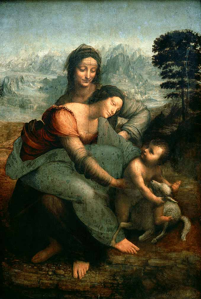 The Virgin and Child with Saint Anne, Oil by Leonardo Da Vinci (1452-1519, Republic Of Florence (Present-Day Italy))